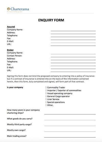 Enquiry Form - Charterama