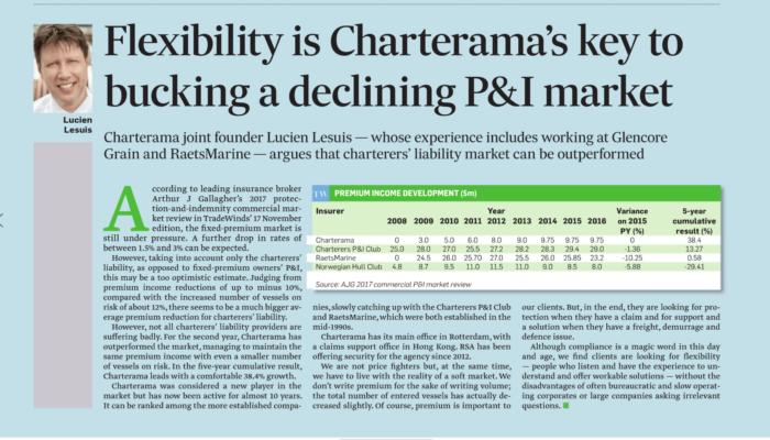 Flexibility is Charterama's key to bucking a declining P&I market